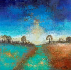Hope on the Horizon by Jo Starkey - Original Painting on Board sized 24x24 inches. Available from Whitewall Galleries